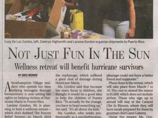 Not Just Fun in the Sun - Wellness retreat will benefit hurricane survivors