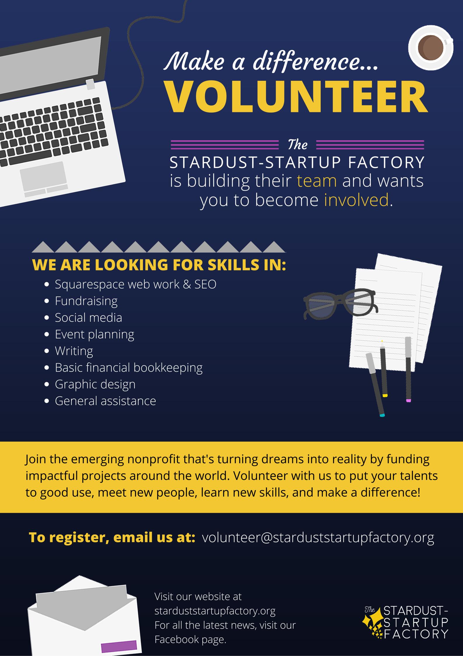 Volunteer Stardust-Startup Factory