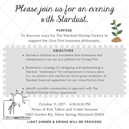 Stardust DC Meetup Invite