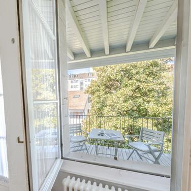 fenetre vue balcon