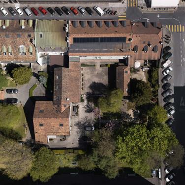 neighbourhood view from the air