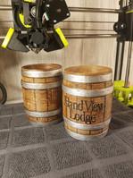 IVL Wood Barrel Koozie