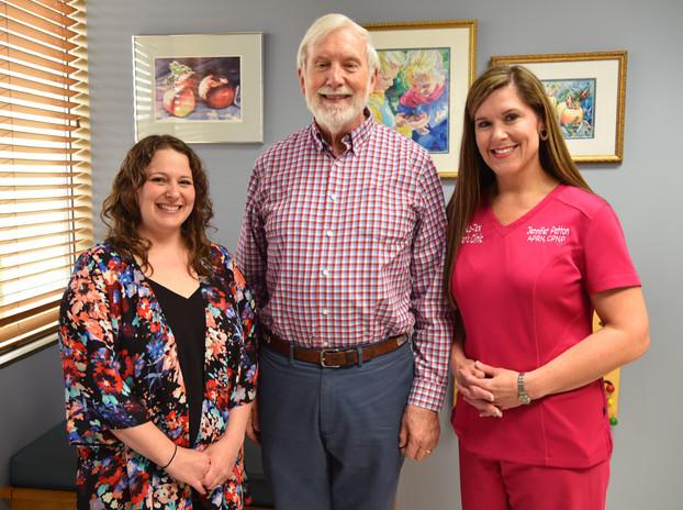 Dr. Lauren Milner, Dr. Frank Hughes, and Ms. Jennifer Patton, NP
