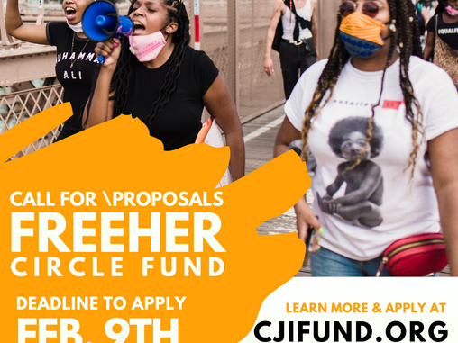 CJIs FreeHER Circle 2021 Grant Application is Now Available!