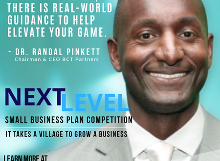 DR. RANDAL PINKETT ENDORSES THE NEXT LEVEL SMALL BUSINESS PLAN COMPETITION