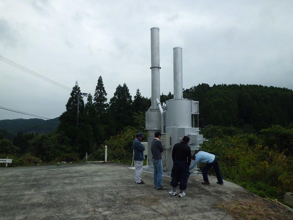 水冷式小型高性能焼却炉FSB-50型