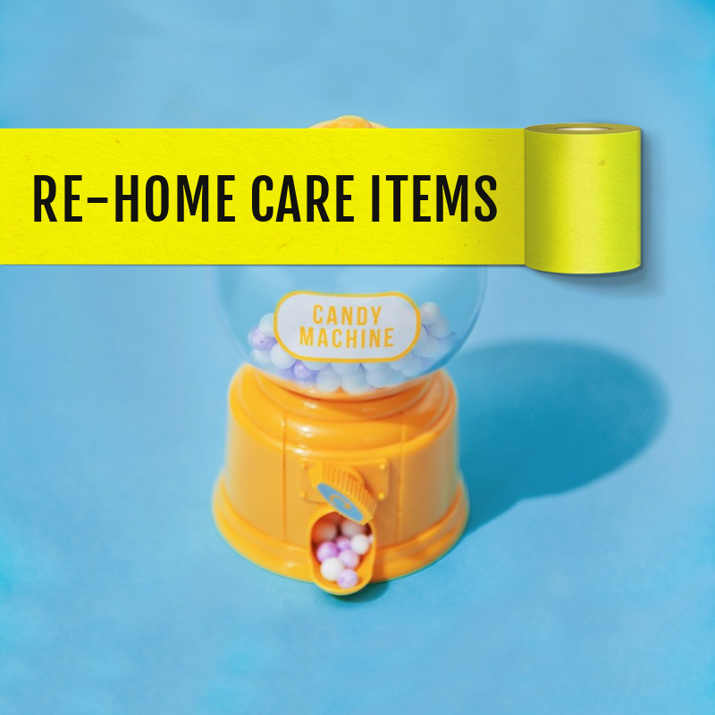 Post care items for re-homing