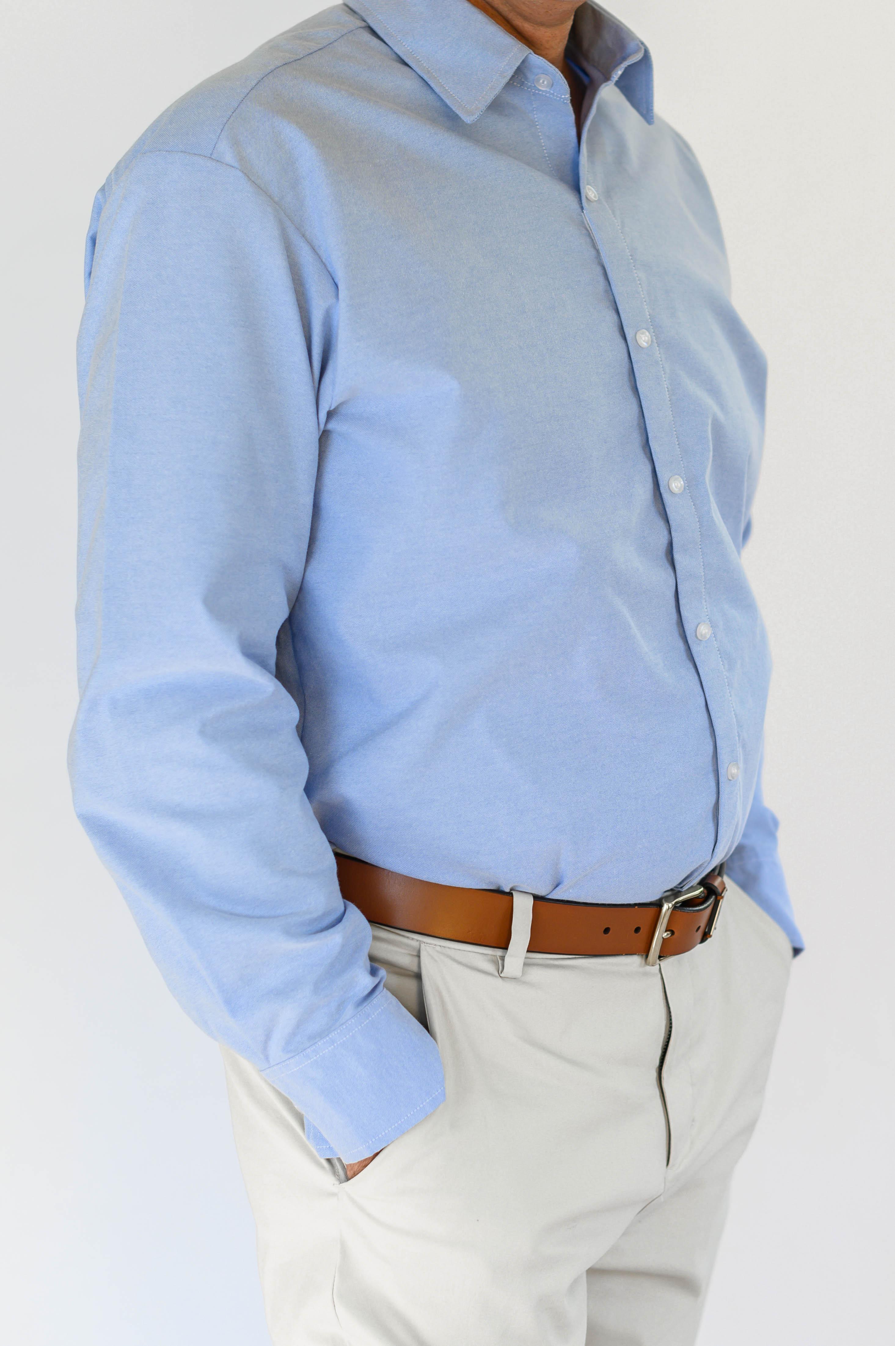Smart Adaptive Clothing Men's blue oxfor