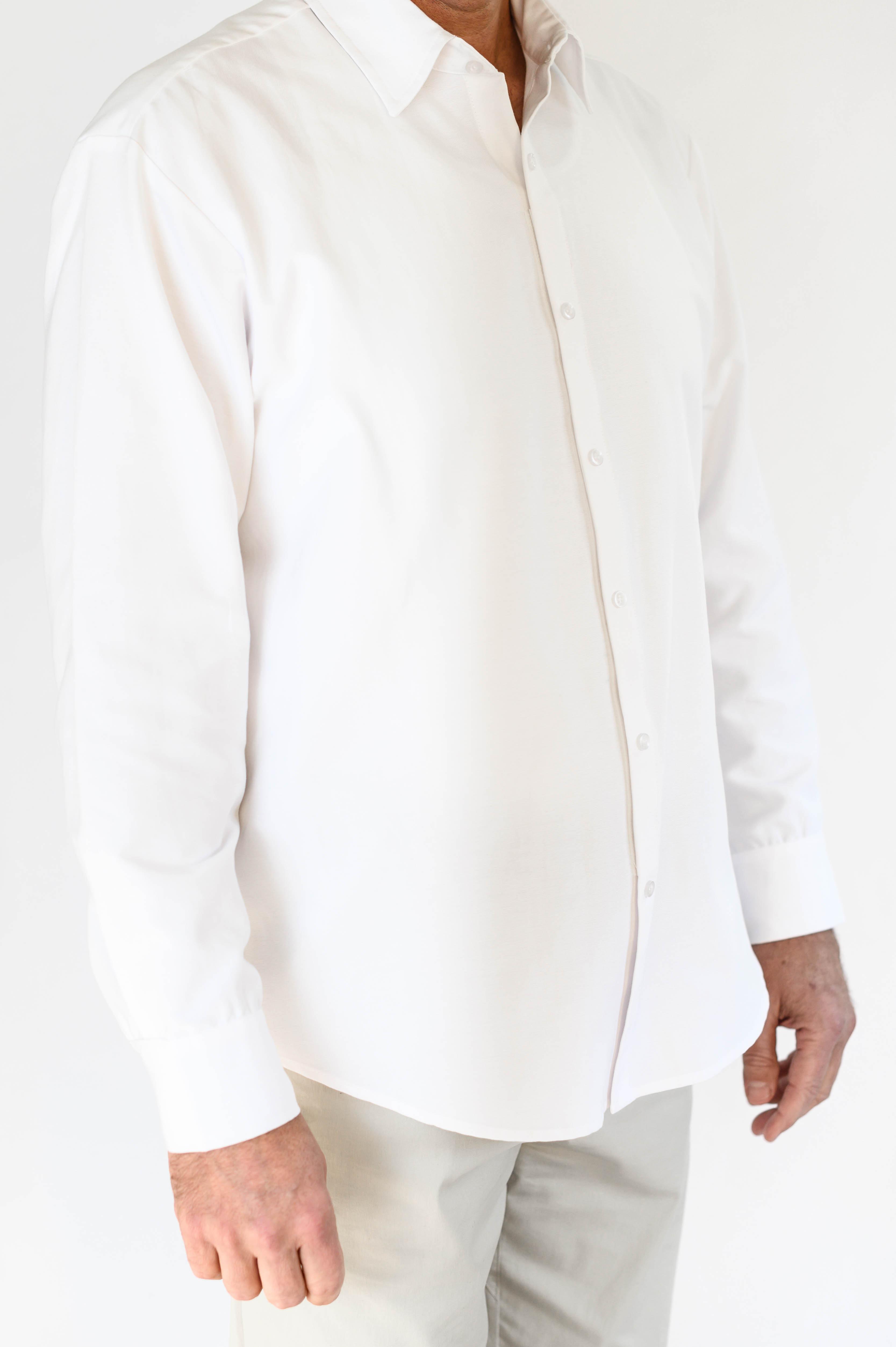 Smart Adaptive Clothing Men's white oxfo