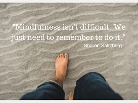 Mindfulness – behaviors to adopt