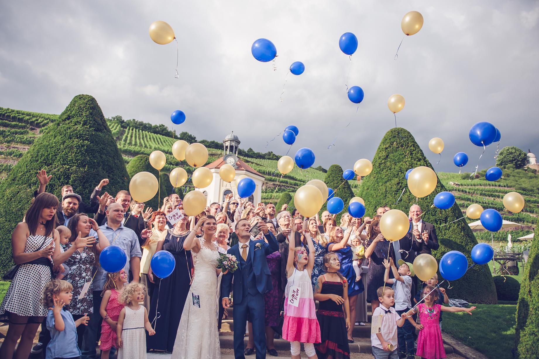 Hochzeitsfotograf Feier Luftballons
