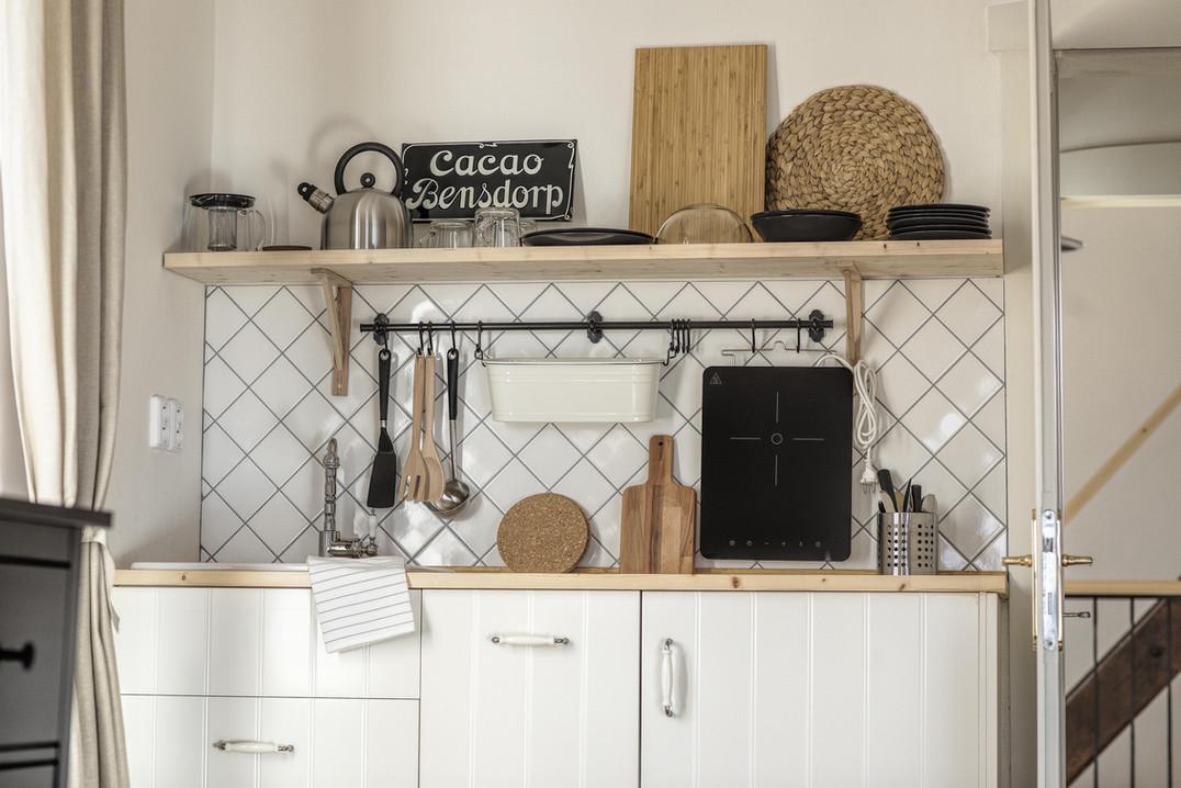 Apartmán Korce kuchyň