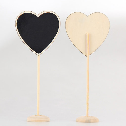 12 Chalkboard Tags - Heart