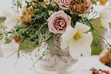 Dusty Pink Rose in a Romantic Flower Arrangement