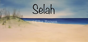 """A special painting to me, because I was in the prossess of painting it while my mother passed. Unfinshed but perfect to me. Selah is defined as a Hebrew word that has been found at the ending of verses in Psalms and has been interpreted as an instruction calling for a break in the singing of the Psalm or it may mean """"forever."""" or """" pause""""."""