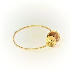 bracelet jonc martelé en gold filled et pièces Marianne 10 et 20 centimes