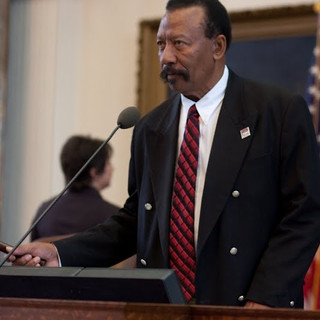 Rep Edwards at the Dais