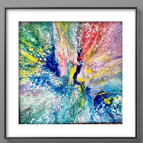 14 x 14 Acrylic Abstract Painting