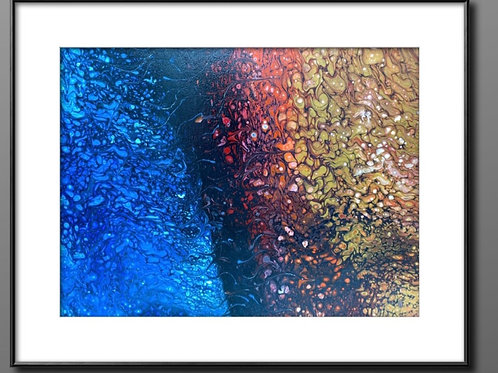 16 x 20 x 1   Fire & Ice Canvas Painting