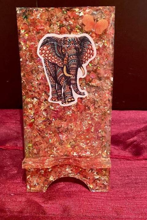 Orange Elephant Phone Stand
