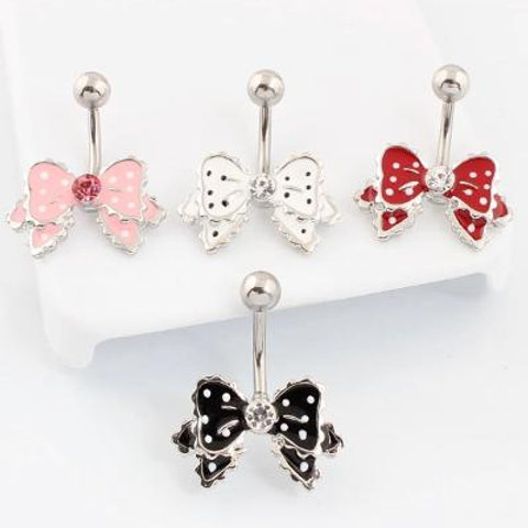 Pink Bow Belly Button Ring
