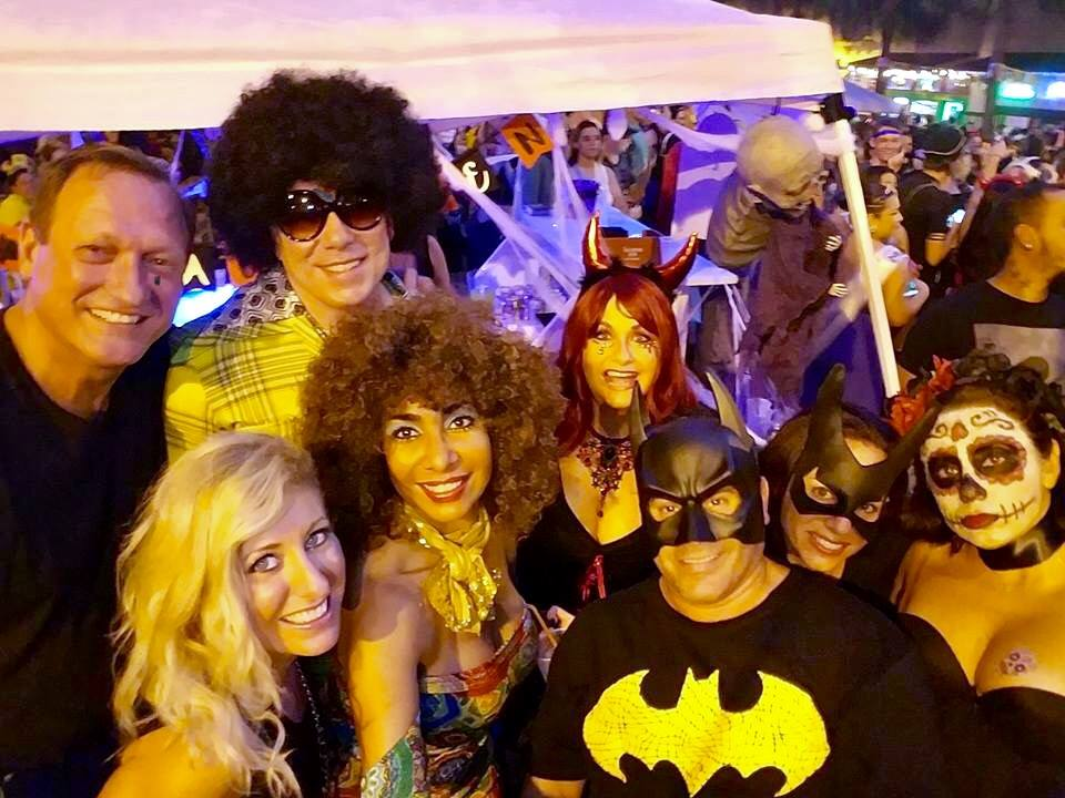 the gang in ft laud halloween