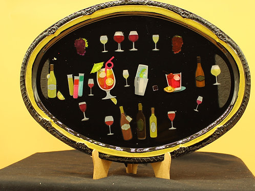 Cocktail Hour Serving Tray