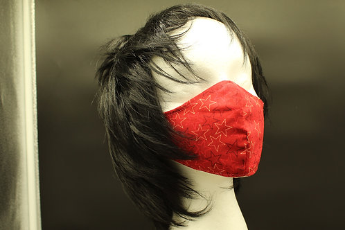 RED STARS ADULT MASK