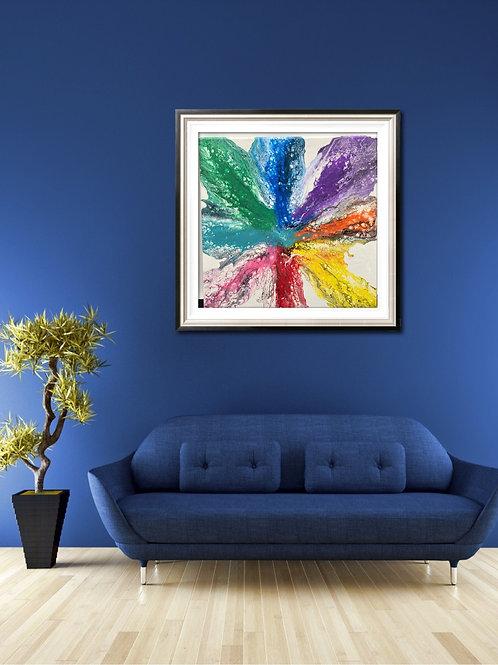 14 x 14 Acrylic Abstract Painting Chakra Colors