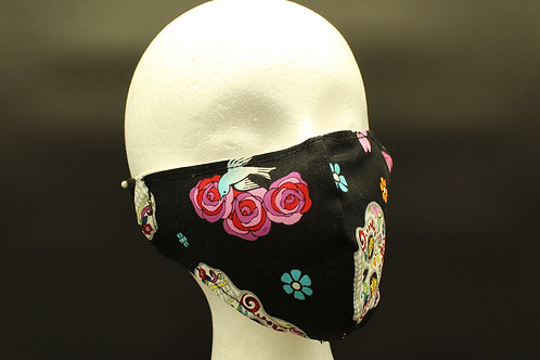 SUGAR SKULL DAY OF THE DEAD ADULT MASK