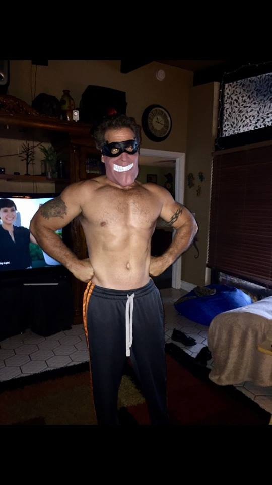 no shirt with mask