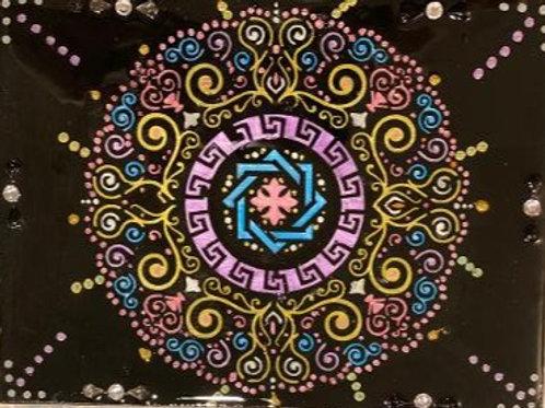 6 x 8    Acrylic Dot Mandala Painting