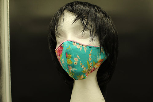 PIONEER WOMAN TURQUOISE REVERSIBLE MASK