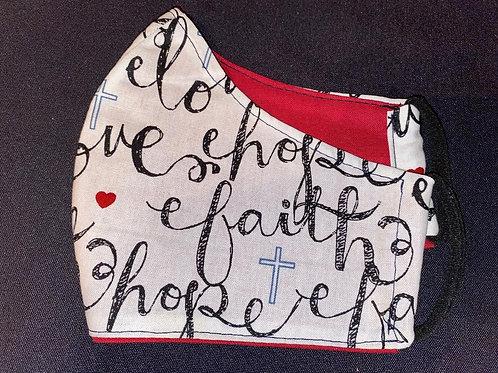 Faith/Love/Hope with Red inside