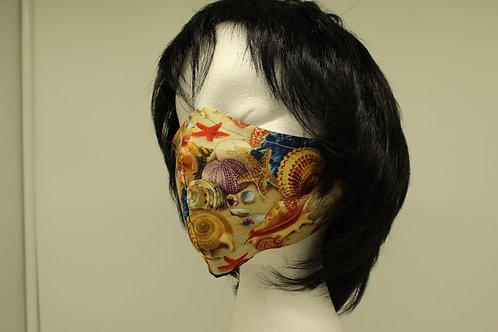 Seashell Pattern Face Mask