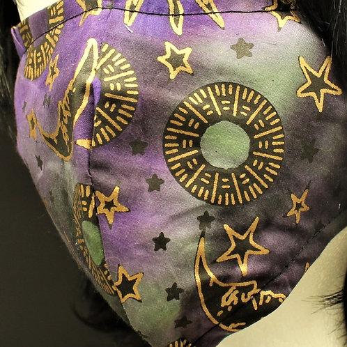 Celestial Sun & Moon Design Purple