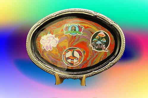 Master of Chill Sloth, mushrooms Hippie Peace Tray
