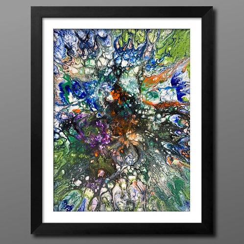 12 x 12    Acrylic Spin Art