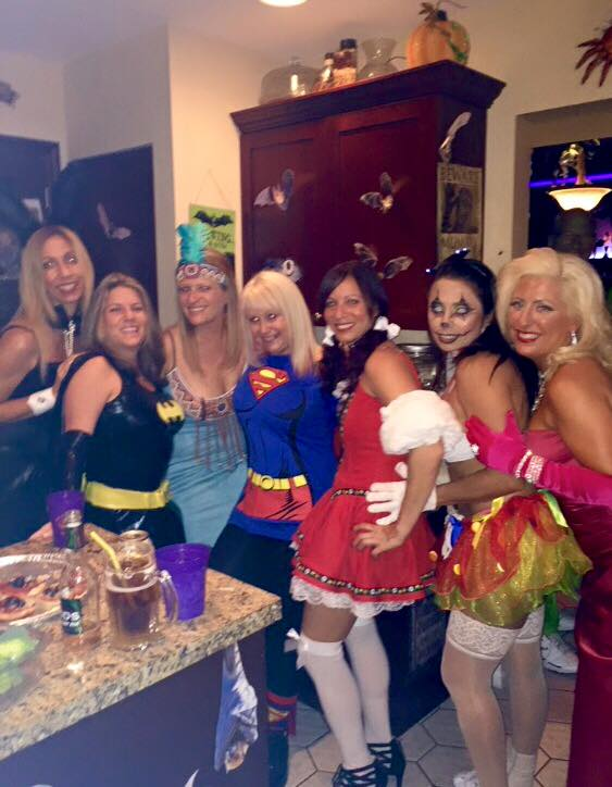 The grils at Halloween