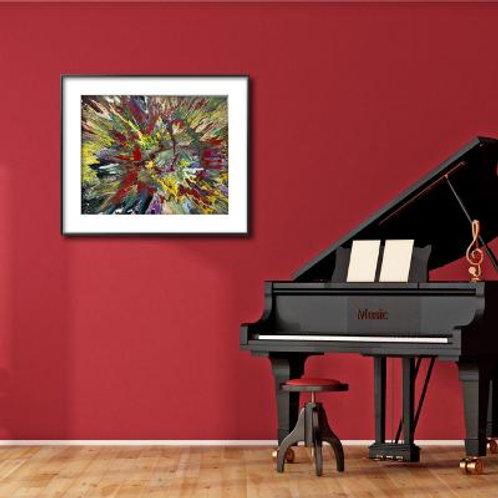 16 x 20 x 1   Acrylic Painting Spin Art