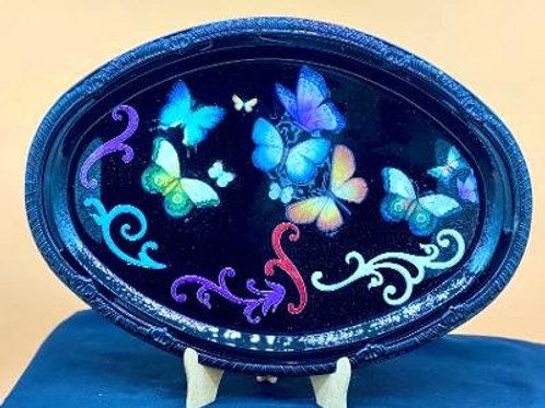 Vibrant colorful 3D Butterfly Design Tray 2