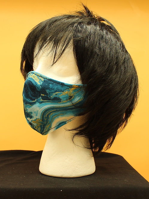 Blue Marble Face Mask