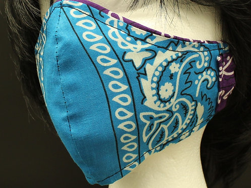 BLUE BANDANA ADULT MASK
