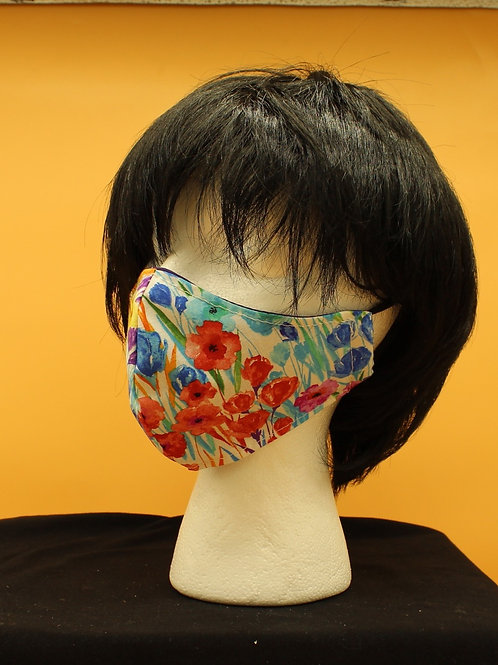 Bright Colorful Pansies Floral Face Mask