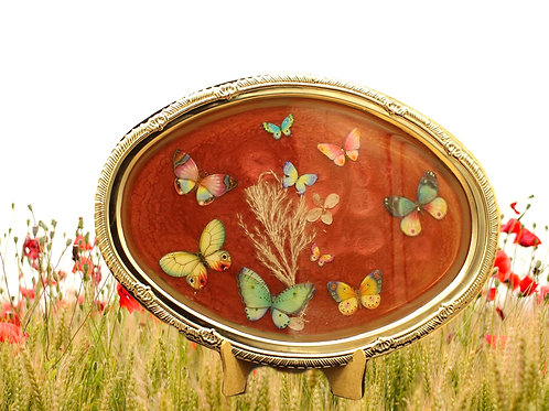 3D Butterfly Design  Pearlescent Mauve Tray 3