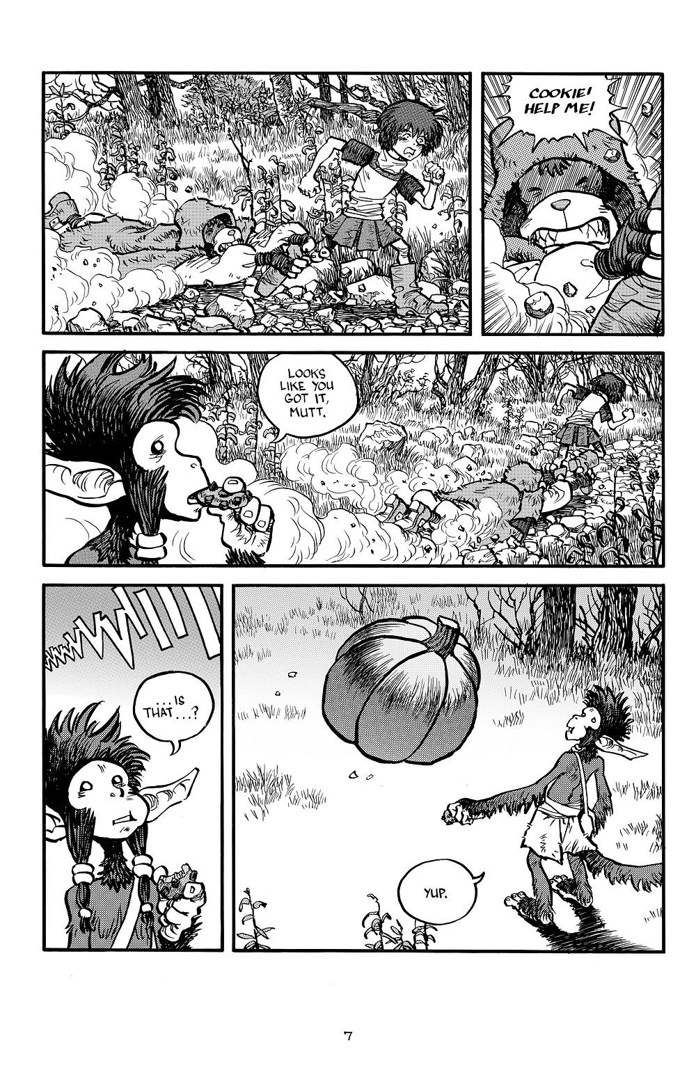 Cookie and the Kid #3, page 7, Antartic Press, Kosakowski