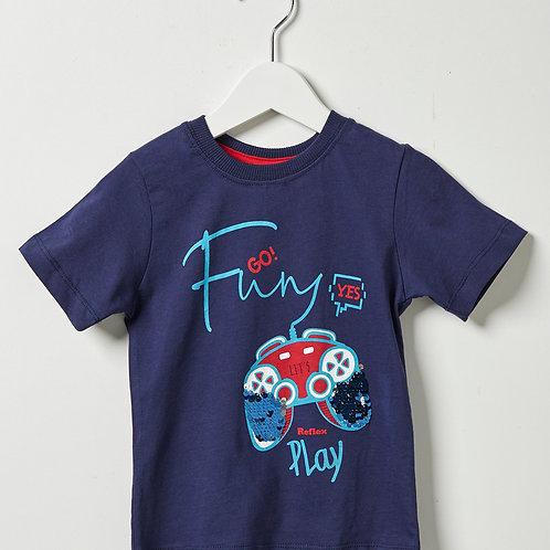 Reflex σετ μπλούζα/βερμούδα μακό