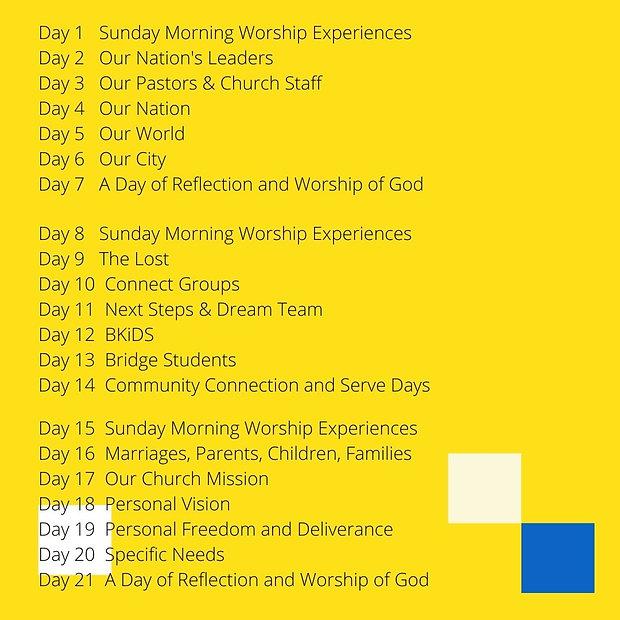 Day 1 Sunday Morning Worship Experiences