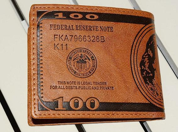 $100 Dollar Bill Wallet for MEN