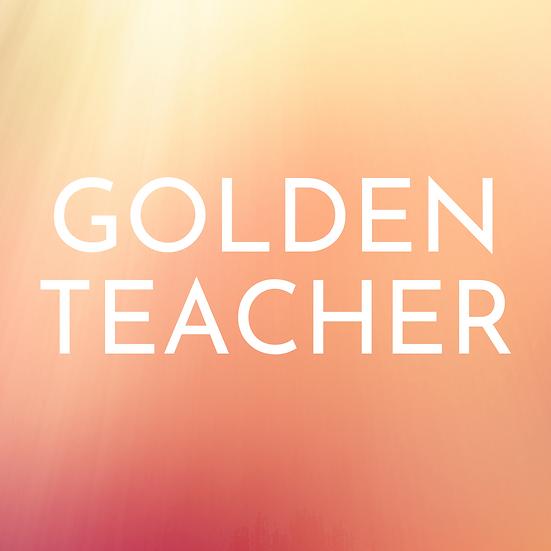 GOLDEN TEACHER ORGANIC DRIED MUSHROOMS 1/2oz